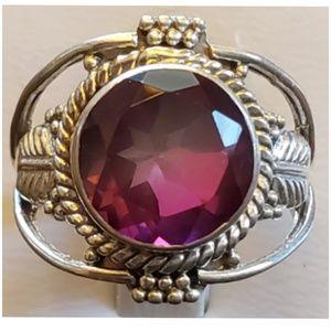 4ct Bi-color Tourmaline Ring Size 5